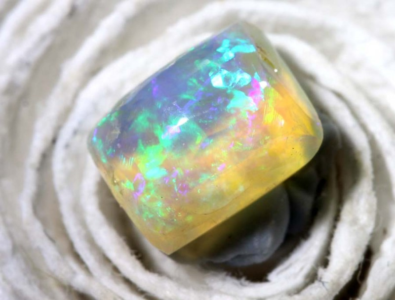 0.8CTS BOULDER PIPE CRYSTAL POLISHED CUT STONE TBO-8389