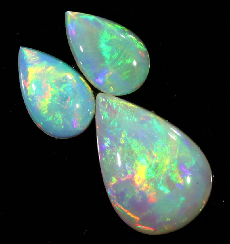 2.70Cts Set 3 matching Fire opals SU1372