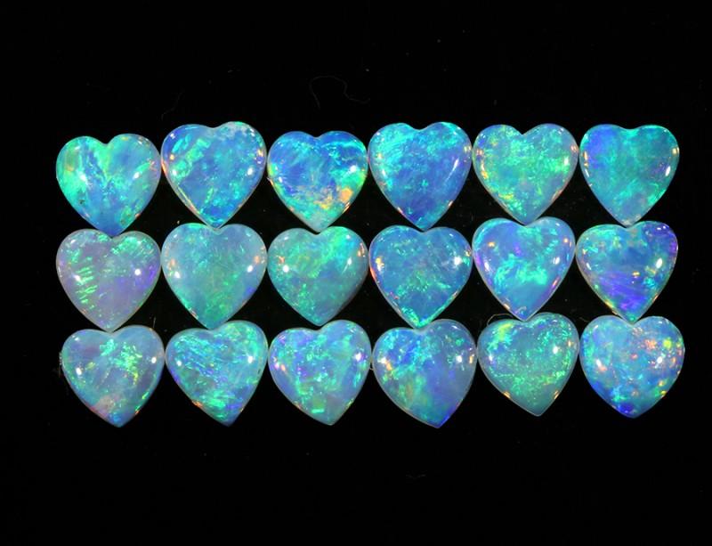 2.35Cts 18pcs matching Crystal Fire opals Calibrated SU1374