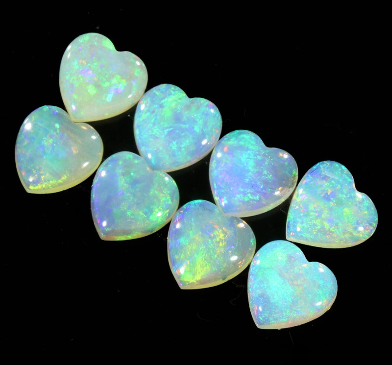 2.17Cts 8pcs matching Crystal Fire opals Calibrated SU1375