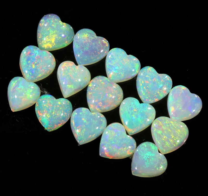 2.77Cts 15pcs matching Crystal Fire opals Calibrated SU1376