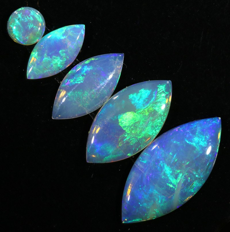 2.82Cts SET 5 matching Fire opals SU1417