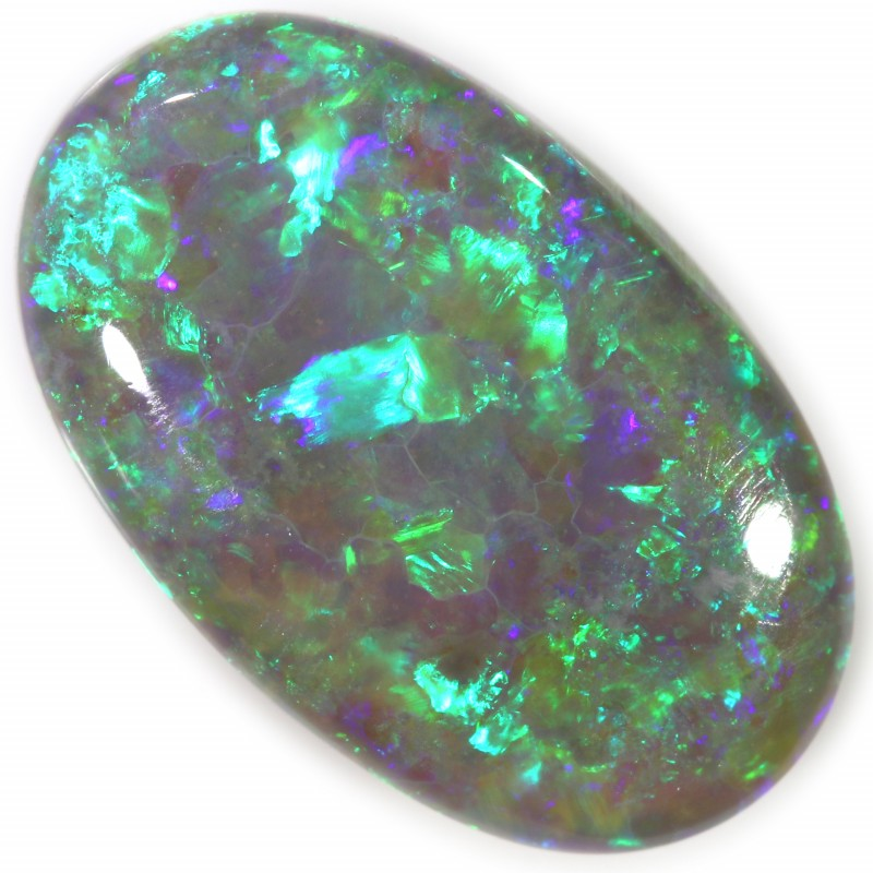 5.90 CTS PERFECT CABOCHON DOME POLISHED BLACK OPAL C7626