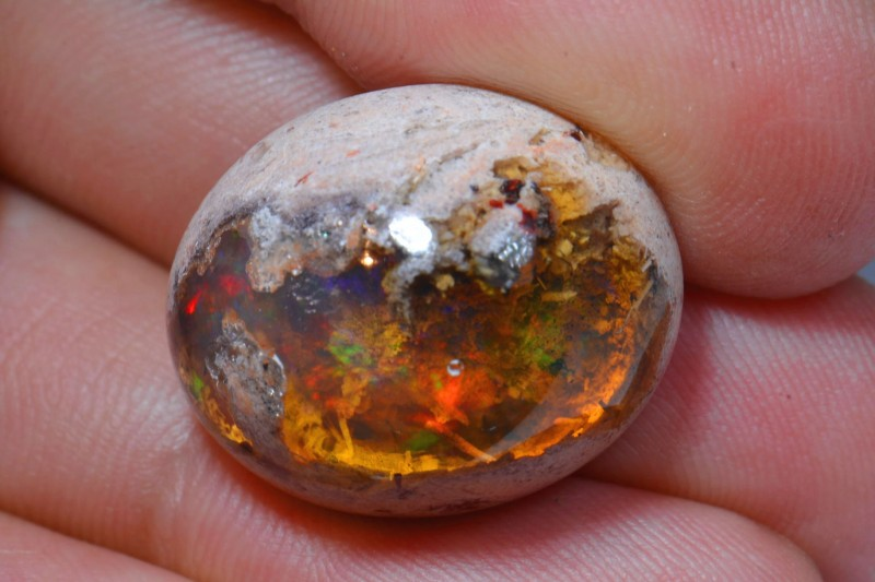 25ct Natural Mexican Matrix CanteraLandscape Fire Opal