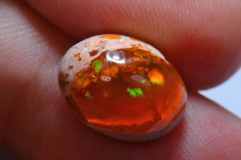 25ct Natural Mexican Matrix Cantera Multicoloured Fire Opal