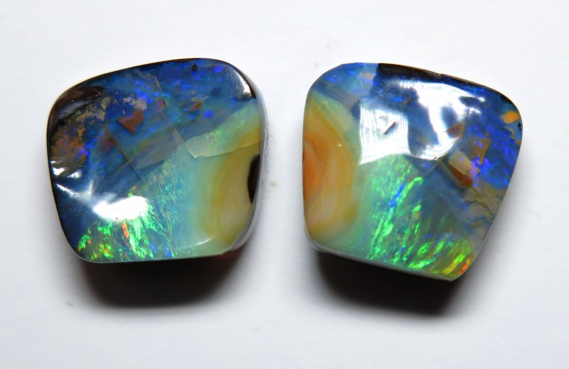 11.95ct Queensland Boulder Opal Split Pair