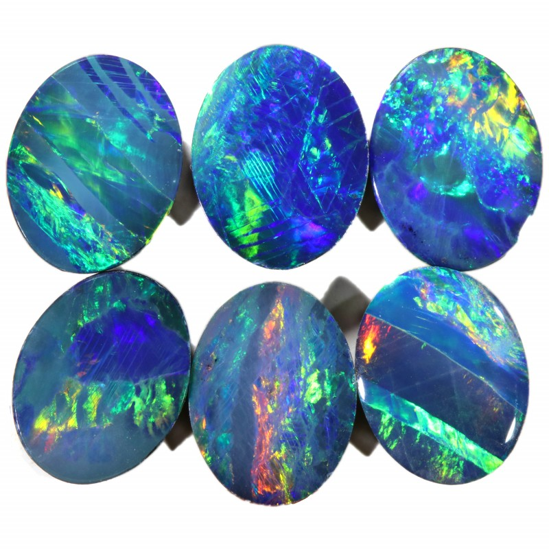 7.21 CTS  6 OPAL DOUBLET PARCEL DEAL GREAT COLOUR PLAY-A19