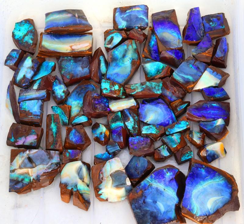 0.668kilo 64pcs Opal cutters Dream Parcel rough boulder Opals. SU1440