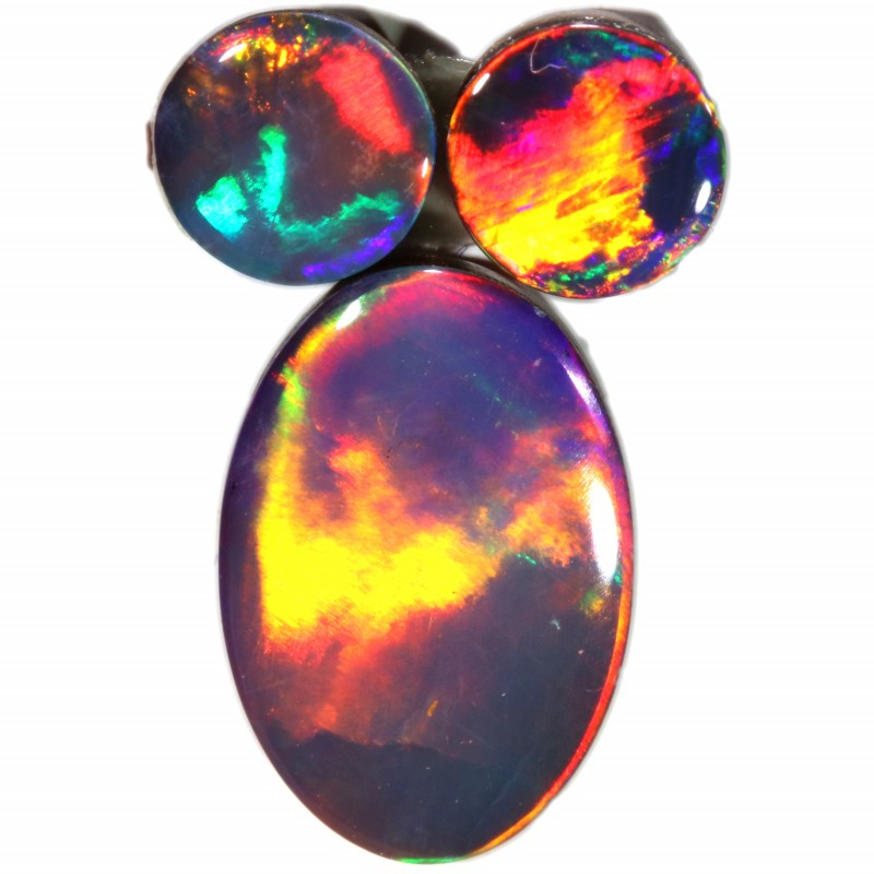 4.53 CTS  3 OPAL DOUBLET PARCEL DEAL GREAT COLOUR PLAY-A25