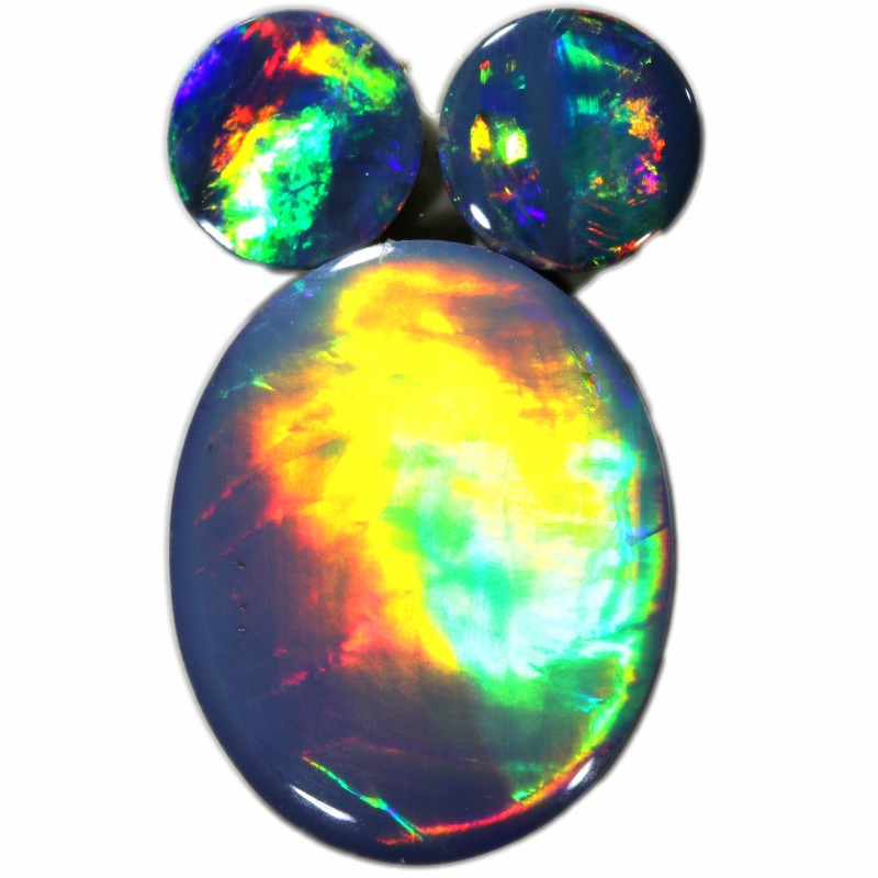 2.26 CTS  3 OPAL DOUBLET PARCEL DEAL GREAT COLOUR PLAY-A27