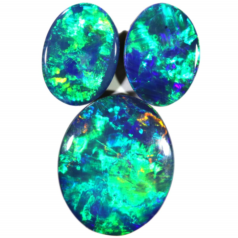 3.24 CTS  3 OPAL DOUBLET PARCEL DEAL GREAT COLOUR PLAY-A29