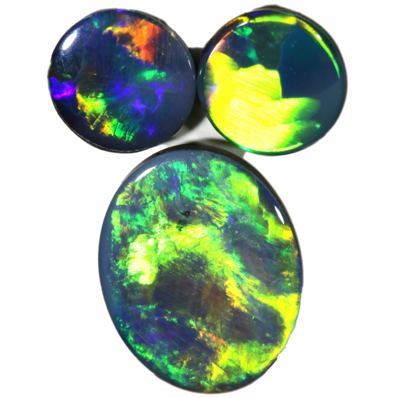 2.12 CTS  3 OPAL DOUBLET PARCEL DEAL GREAT COLOUR PLAY-A34