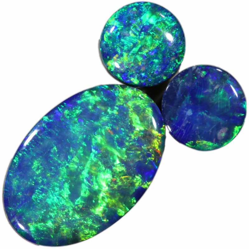 1.70 CTS  3 OPAL DOUBLET PARCEL DEAL GREAT COLOUR PLAY-A36