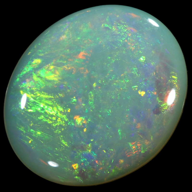 3.60 CTS  COOBER PEDY SOLID OPAL GREAT COLOUR PLAY --A56