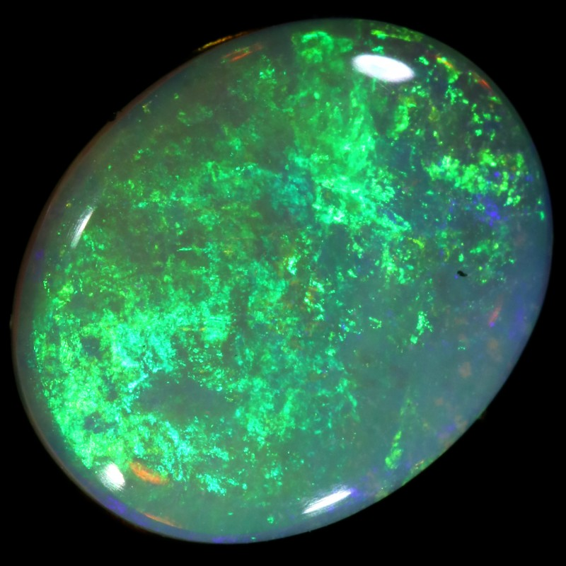1.48 CTS  COOBER PEDY SOLID OPAL GREAT COLOUR PLAY --A60