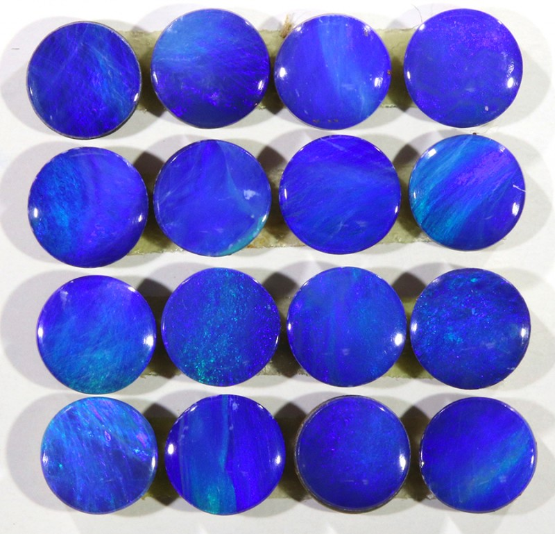 4.5CTS  16 PIECES CALIBRATED OPAL DOUBLET PARCEL GREAT COLOR PLAY -S287