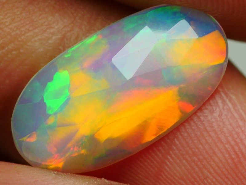2.05 CRT BRILLIANT FLAT FACETED BROADFLASH NEON PATTERN FIRE WELO OPL-