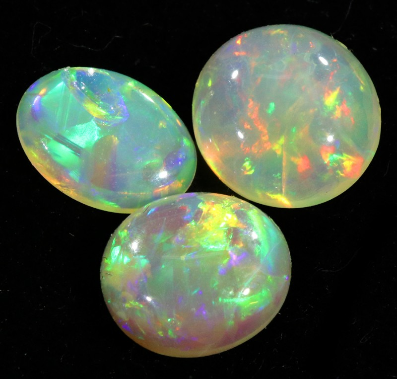 2.35Cts 3pcs TREATED Crystal Opal  Parcels SU1457