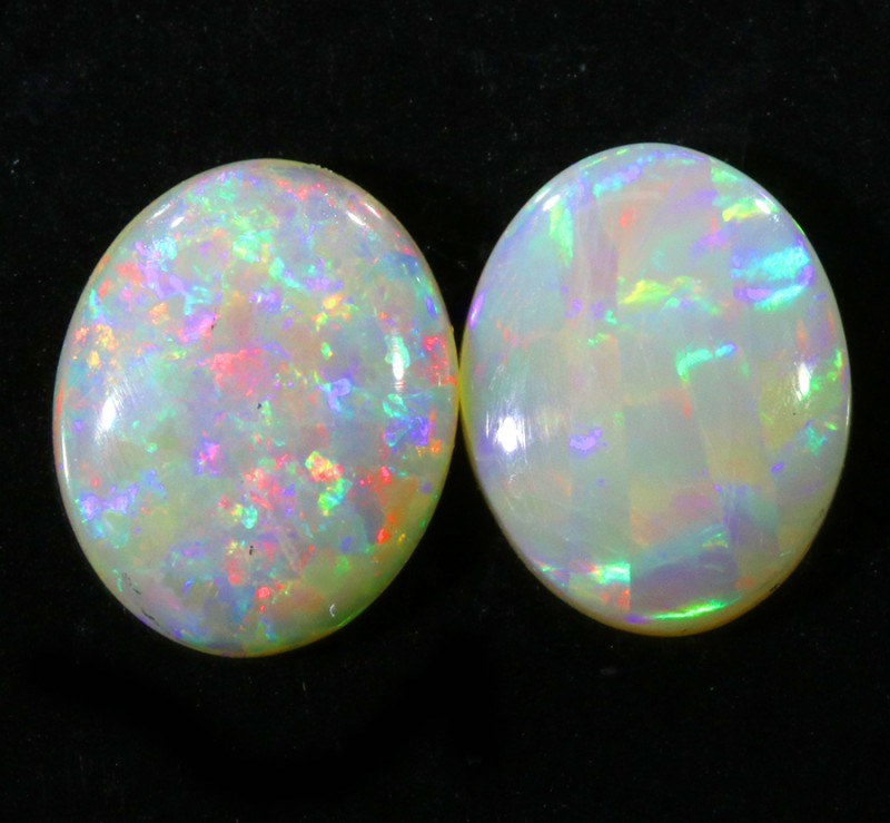 3.30CTS Pair COOBER PEDY OPAL PARCELS GREAT COLOUR PLAY   S344