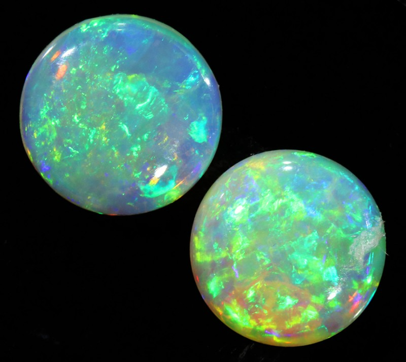 1.51CTS Pair COOBER PEDY OPAL PARCELS GREAT COLOUR PLAY   S356