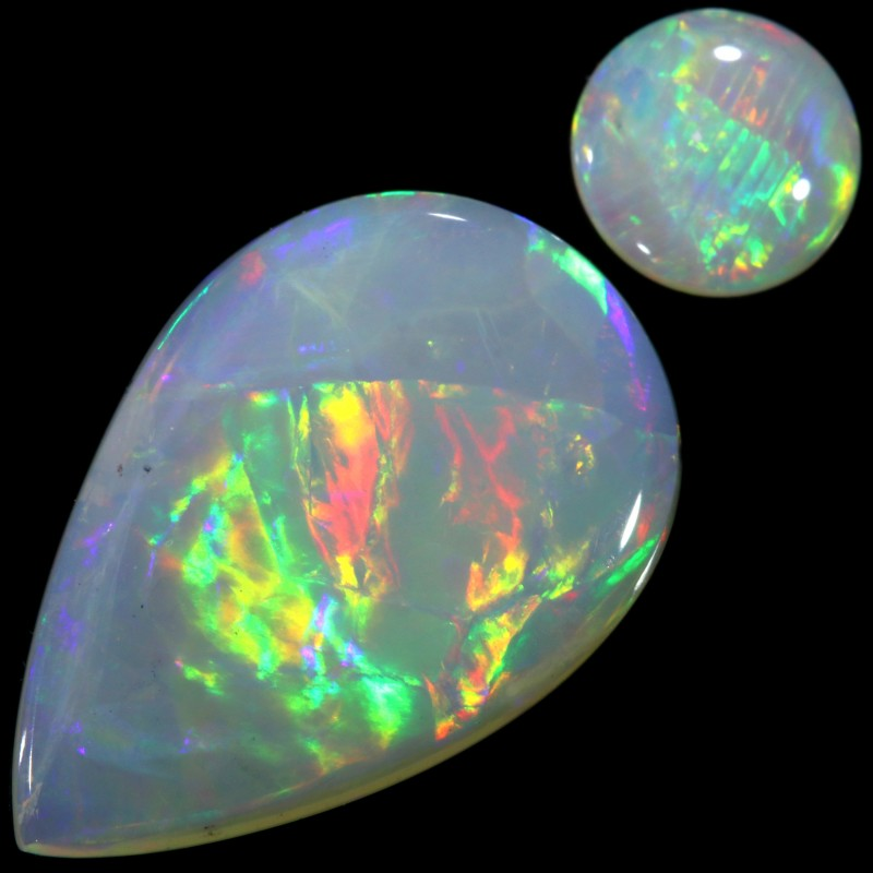 3.23 CTS WHITE FIRE OPAL STONE [C132]safe