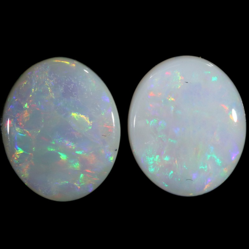 4.02 CTS WHITE FIRE OPAL PAIR[C142]safe