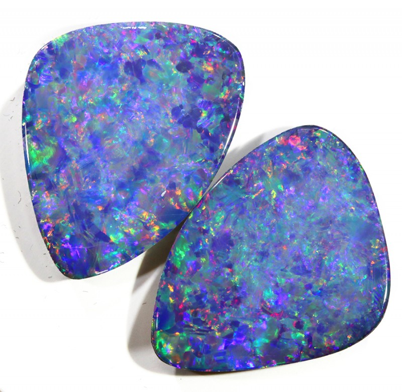 13.36CTS  OPAL DOUBLET PAIR , GREAT COLOUR PLAY --S361