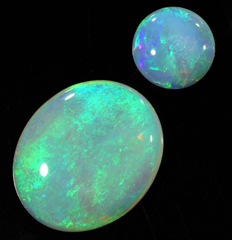 2.74CTS COOBER PEDY OPAL PAIR PARCELS GREAT COLOUR PLAY   S392