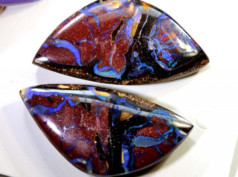 36.40CTS BOULDER OPAL PAIR STONE NC-5500