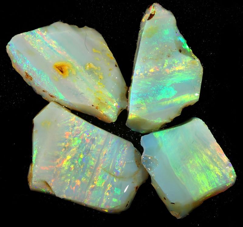 16.70Cts 4pcs Mintabie opal slices SU1475