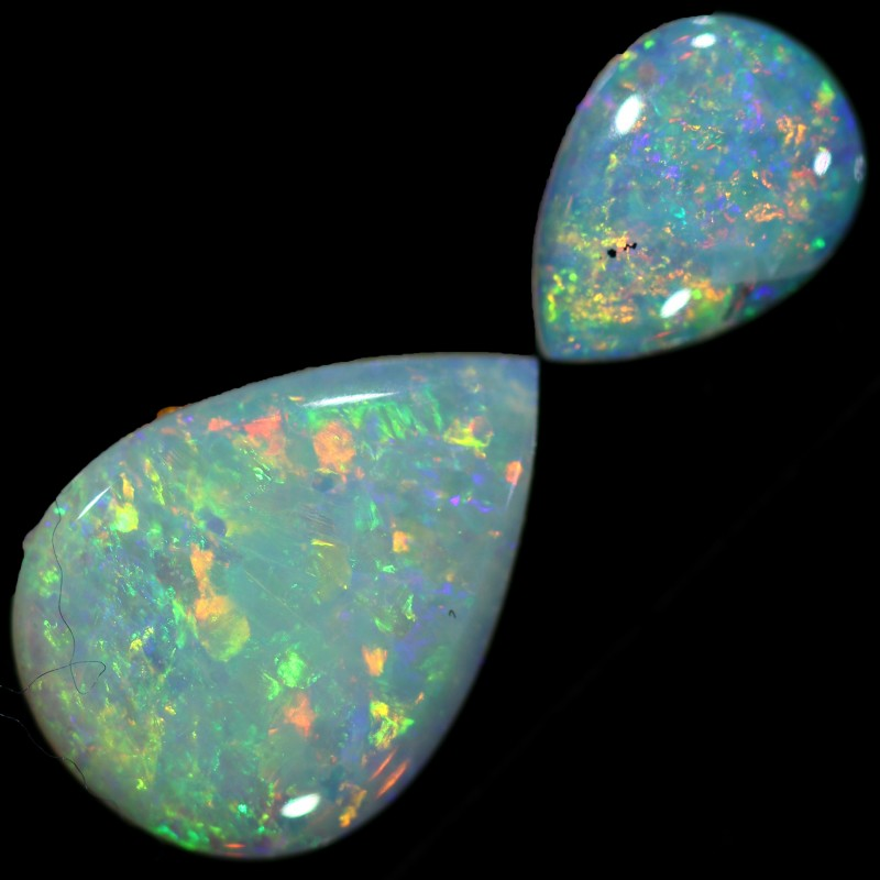 1.47 CTS WHITE OPAL SET 2 STONES[C226]safe