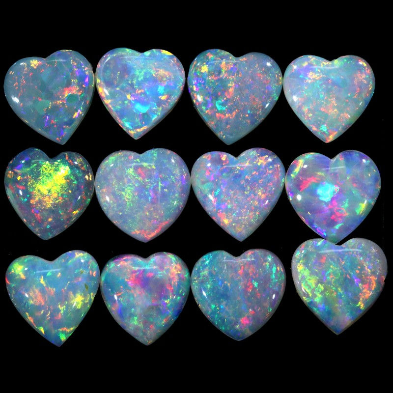 2.86 CTS CRYSTAL OPAL HEART SHAPE PARCEL CALIBRATED [C240]SAFE