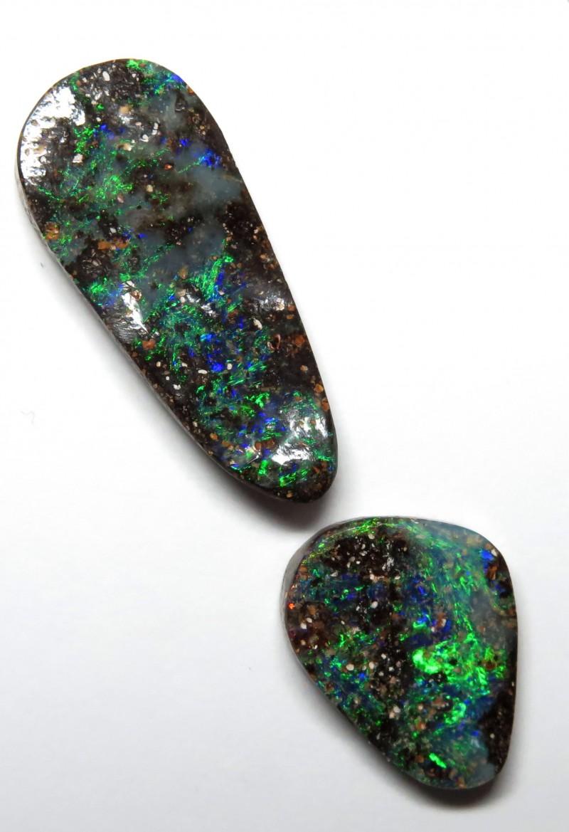 9.09ct - 2 Stone Queensland Boulder Opal Stone