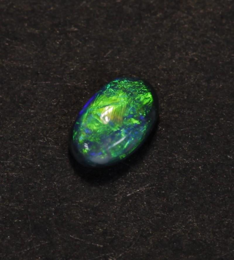 Small Ringstone, Black Opal, Lightning Ridge Opal, 0.25ct, Australian Gem S