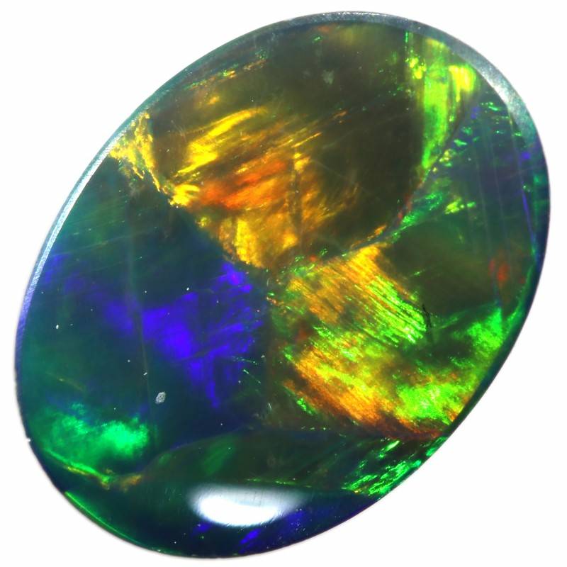 1.10 CTS  GEM OPAL DOUBLET FROM LIGHTNING RIDGE. [SEDA1339]SAFE