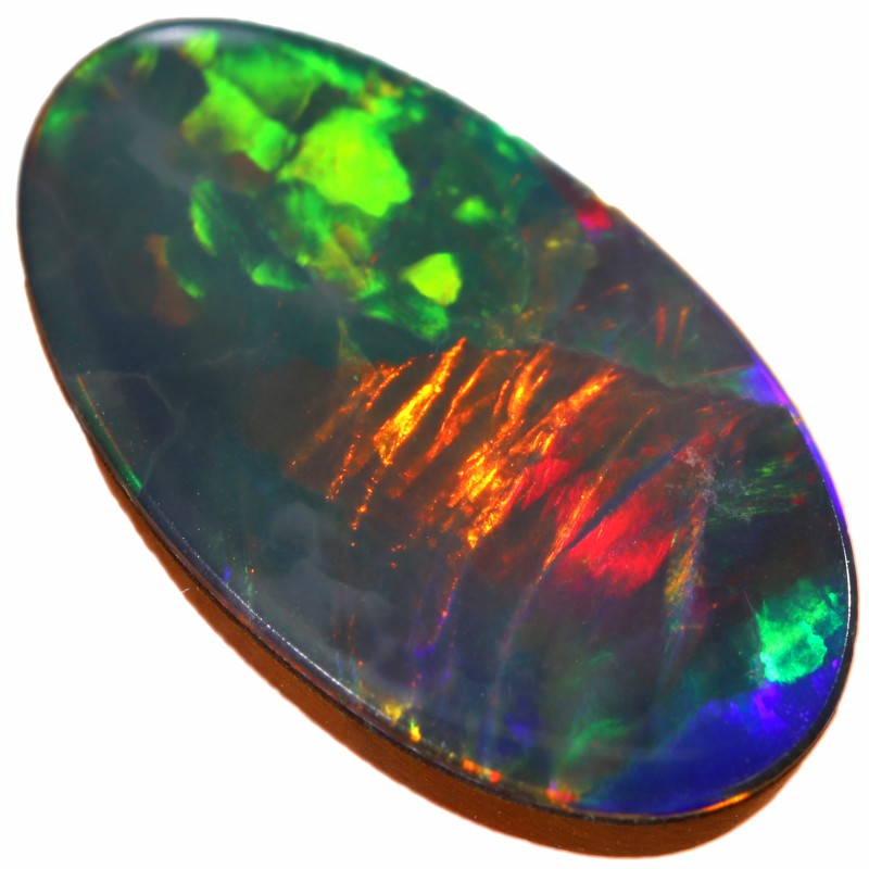 2.05 CTS  QUALITY OPAL DOUBLET FROM LIGHTNING RIDGE. [SEDA1409]SAFE