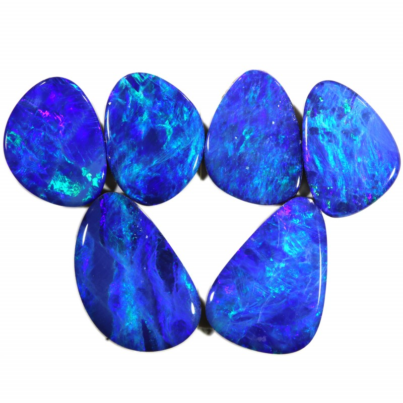 6.88 CTS OPAL DOUBLET 6 SET- CALIBRATED [SEDA1458]