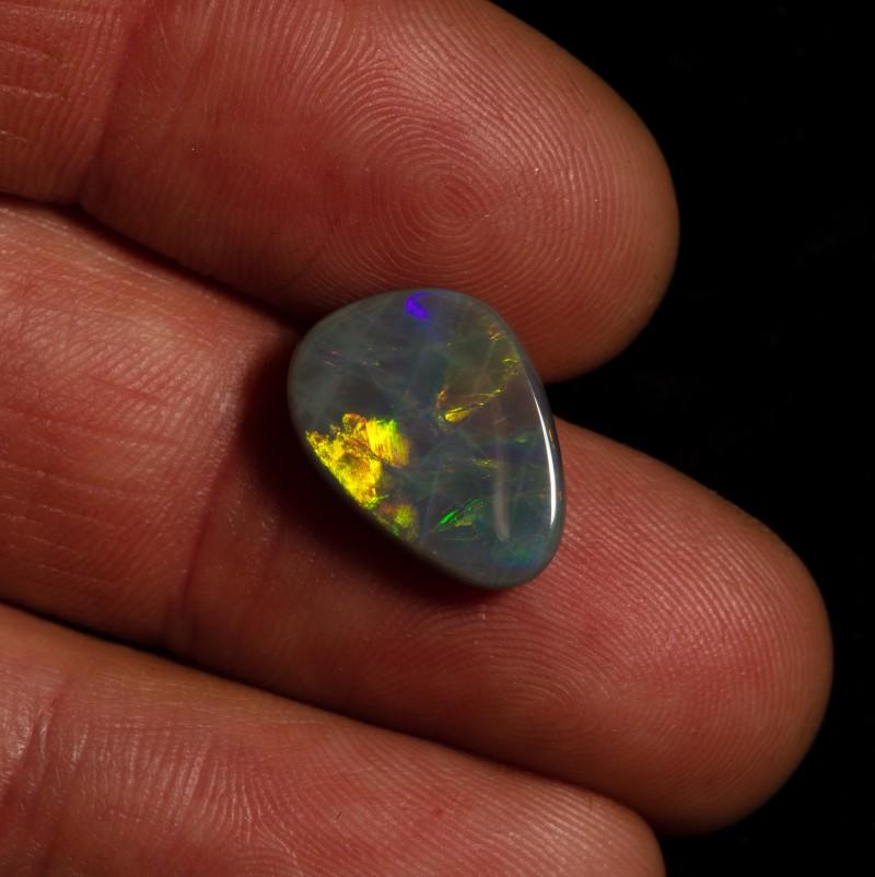5.45 carat Allens Rise black opal metallic fire pattern