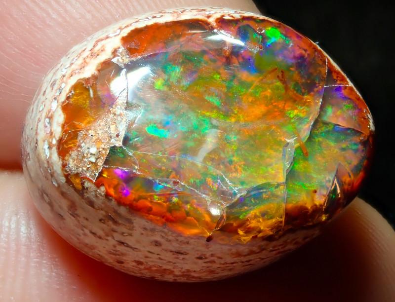 $1 NR Auction 20ct Mexican Matrix Cantera Multicoloured Fire Opal