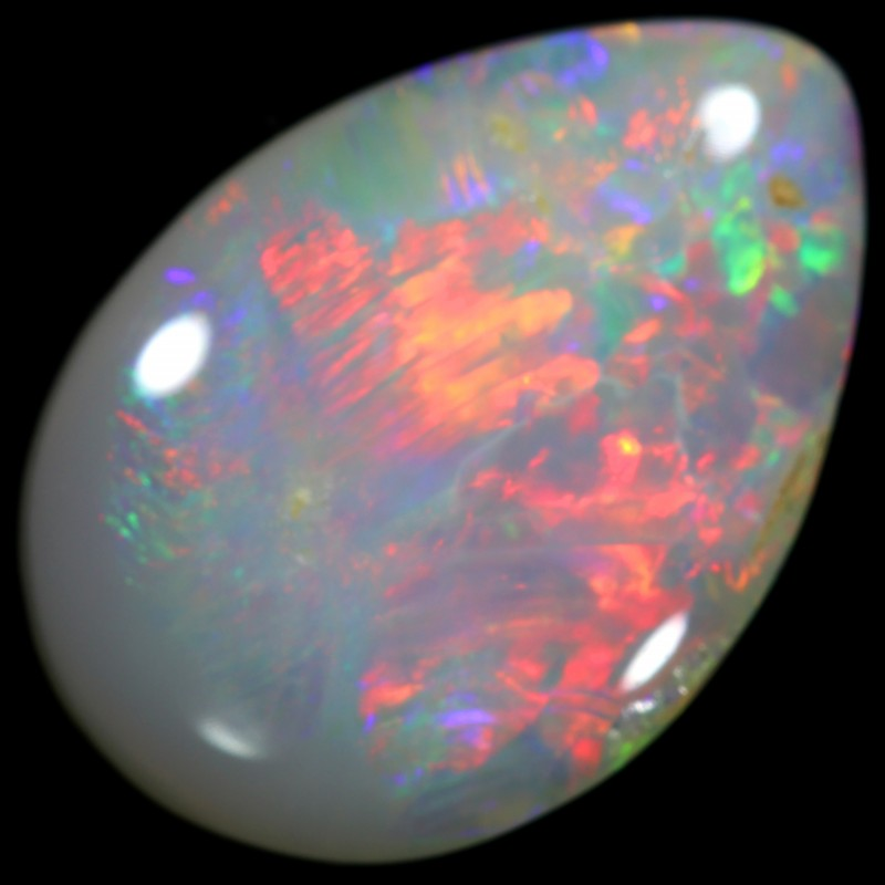 FIREY RED CUT BLACK OPAL 1.45 CTS NICE COLOUR PLAY IN STONE HW577