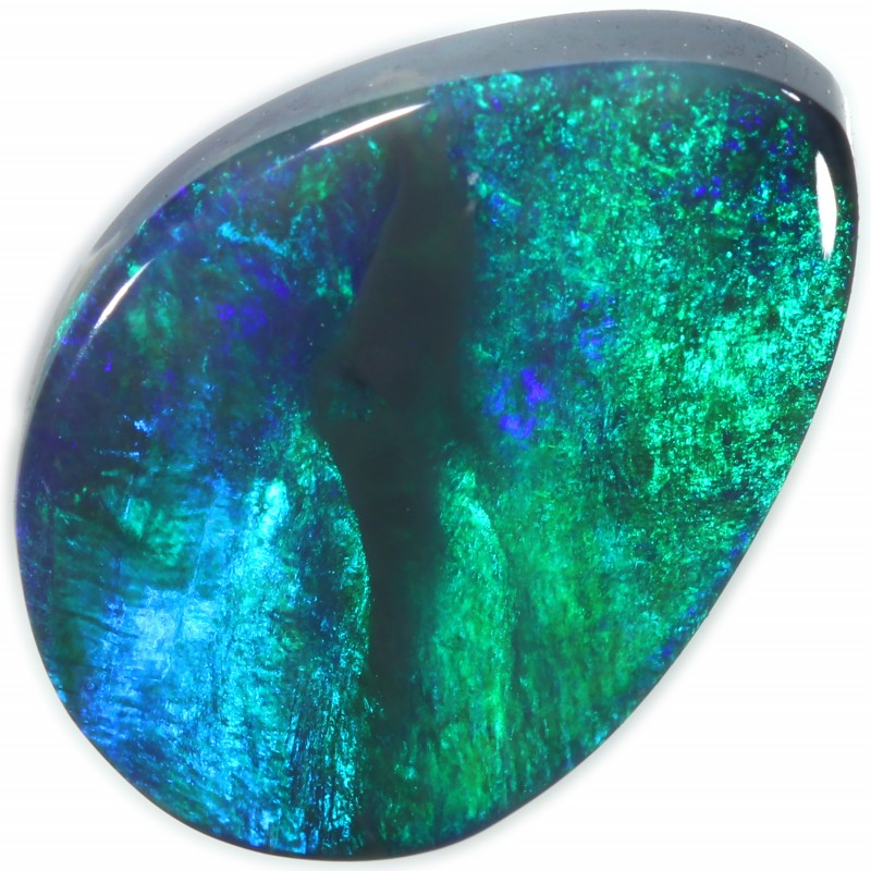 BLACK OPAL FROM DOWN UNDER AUSTRALIA AQUA GREEN/BLUE FIRE A2040