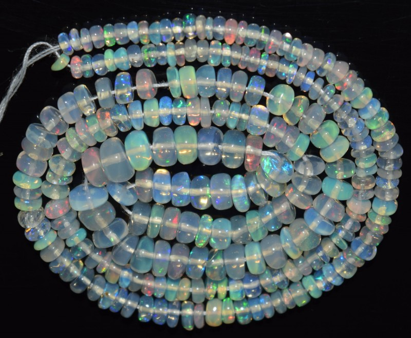 31.55 Ct Natural Ethiopian Welo Opal Beads Play Of Color OA15