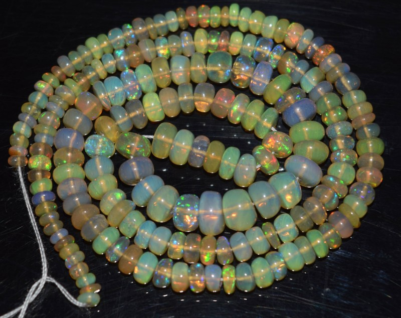 45.15 Ct Natural Ethiopian Welo Opal Beads Play Of Color OA58