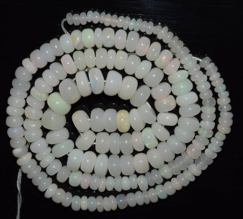 51.60 Ct Natural Ethiopian Welo Opal Beads Play Of Color OA61