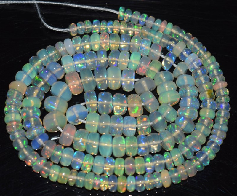 44.70 Ct Natural Ethiopian Welo Opal Beads Play Of Color OA120
