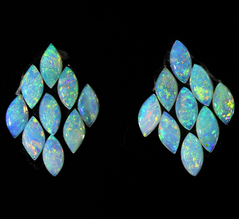 1.90CTS 18 PIECES CALIBRATED OPAL PARCEL GREAT COLOR PLAY- S427