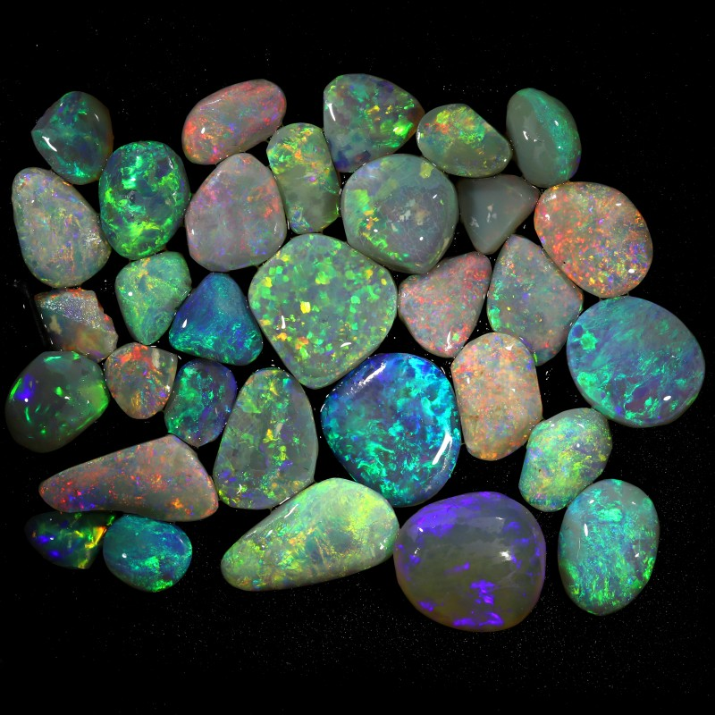 77.00 CTS  32 STONES  OPAL ROUGH FROM LIGHTNING RIDGE PARCEL [BR6531]