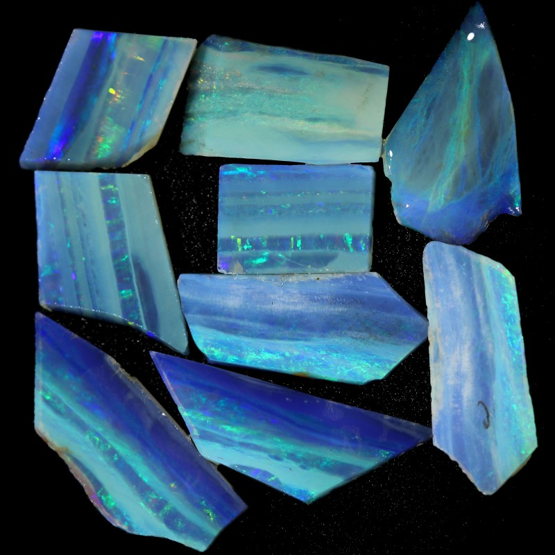 20.98 CTS SLICED  ROUGH OPAL PARCEL FROM COOBER PEDY [BR6567]safe