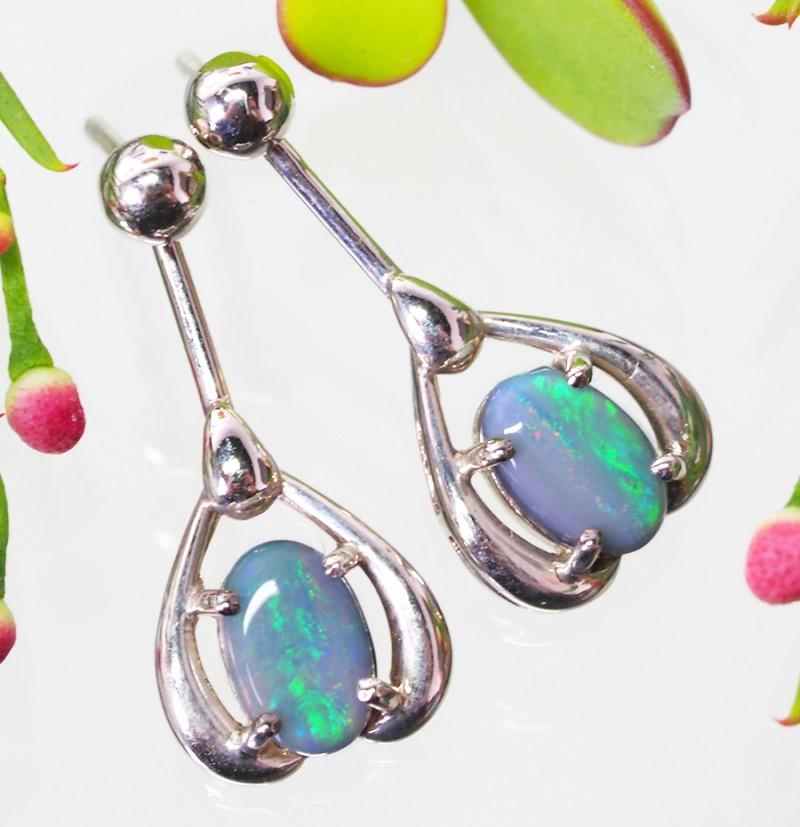 Nice 18k Swing 18k gold swing crystal earrings  SCO313