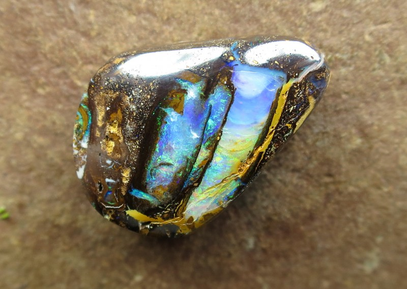 """22cts,""""BOULDER FOSSIL WOOD OPAL"""""""